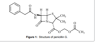 Structure of Penicillin antibiotic