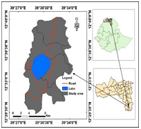 Map of the study area, (Source: Own development by ARCH GIS Classification).