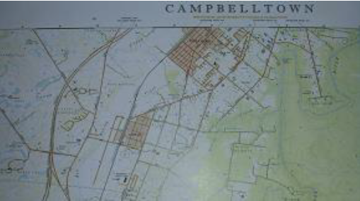 Physiographic Map of Campbell town District