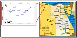 Location map of Qasr field relative to Egypt geographic map.