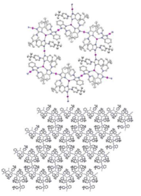 View of the cationic part of the coordination polymer {[AgL]CF3SO3}n (3). Hydrogen atoms and triflate anions are omitted for clarity.