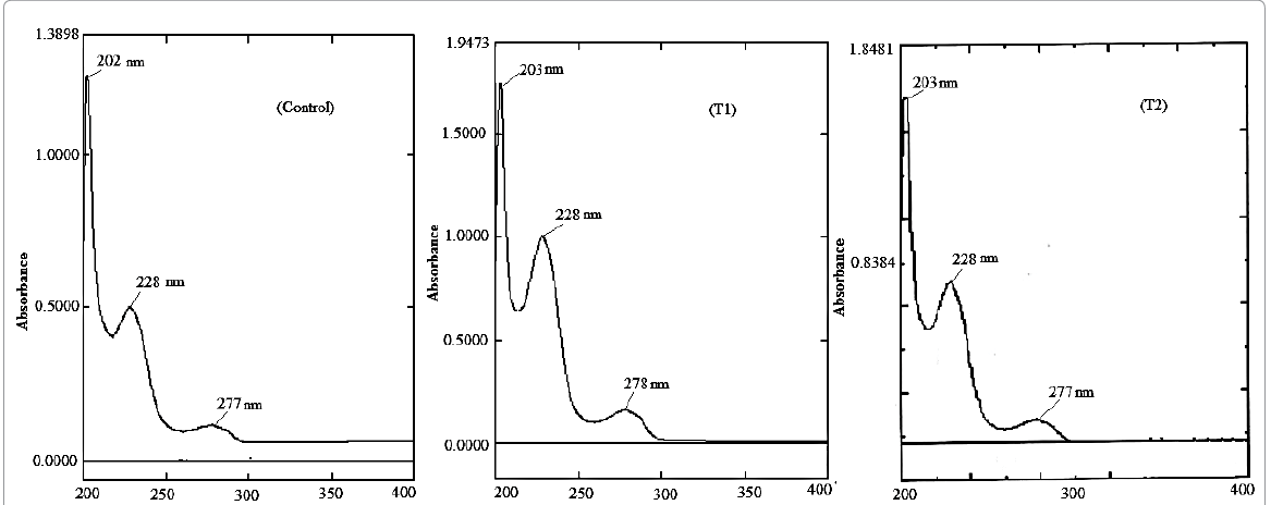 UV spectra of control