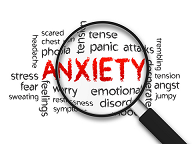 This image explains about Anxiety disorders which include stress, depression, social anxiety disorders, phobias and many more.