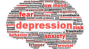 This image explains about depressive disorders which include anxiety, behavior, mood disorders and many more